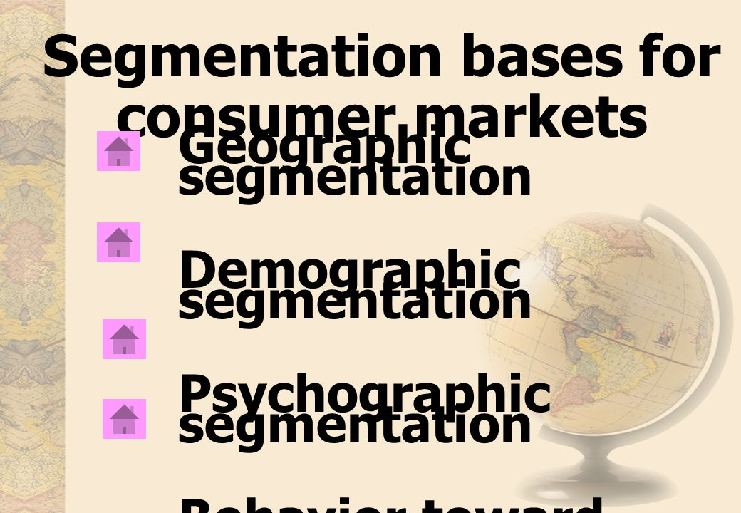 Segmentation bases for consumer markets