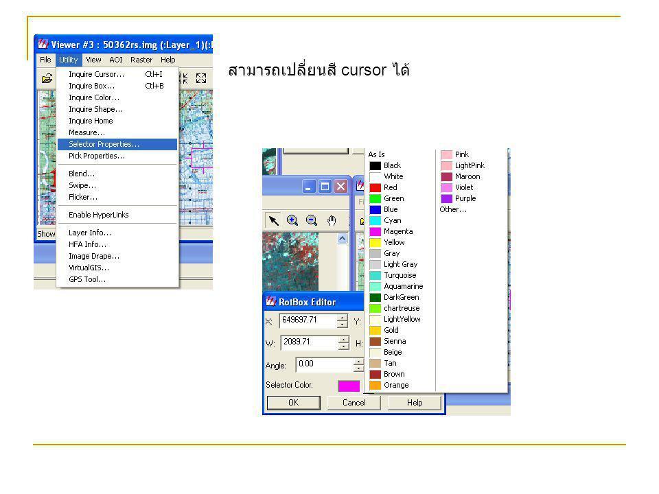 สามารถเปลี่ยนสี cursor ได้