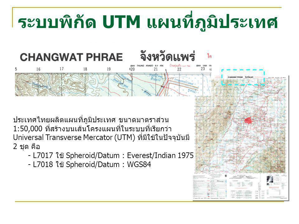 ระบบพิกัด UTM แผนที่ภูมิประเทศ