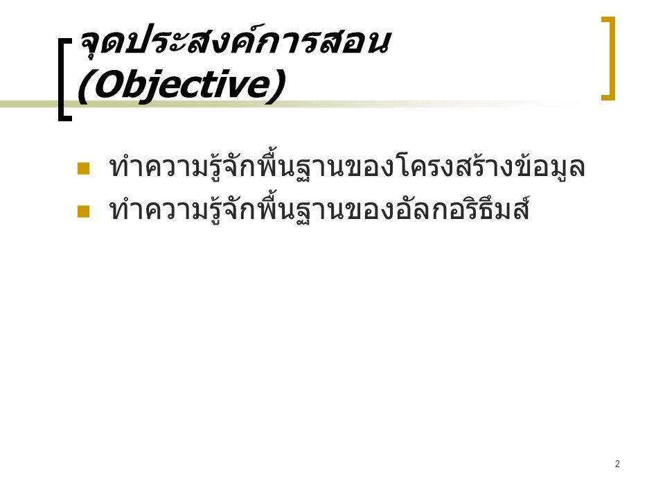 จุดประสงค์การสอน (Objective)