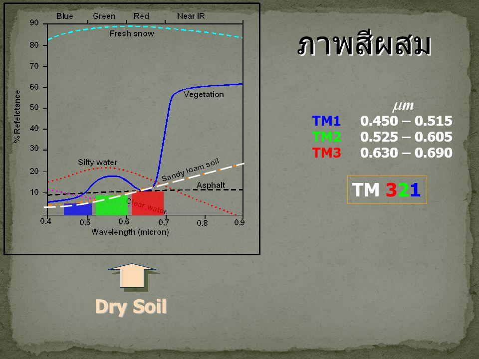 ภาพสีผสม TM 321 Dry Soil Dry Soil m TM1 0.450 – 0.515