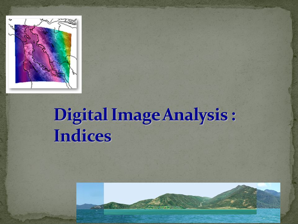 Digital Image Analysis : Indices