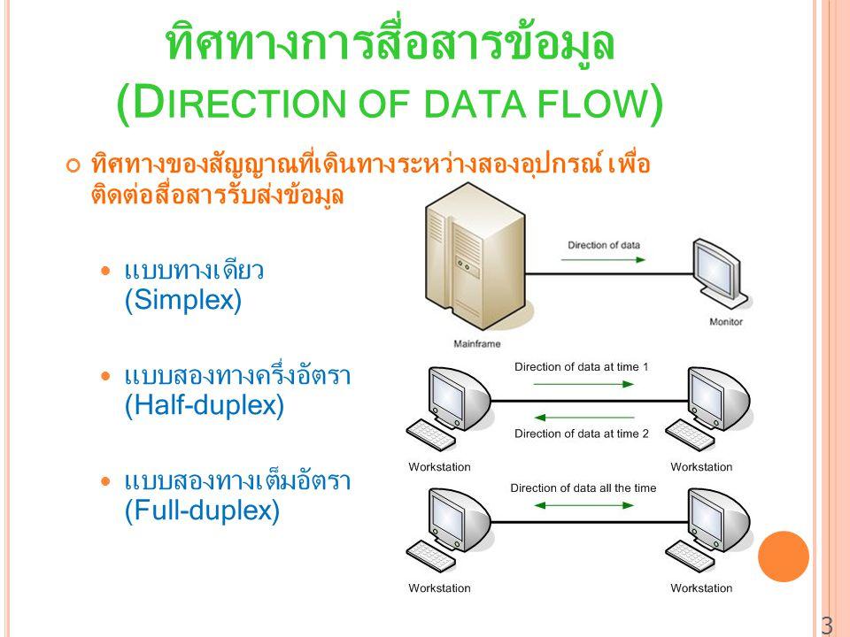 ทิศทางการสื่อสารข้อมูล (Direction of data flow)
