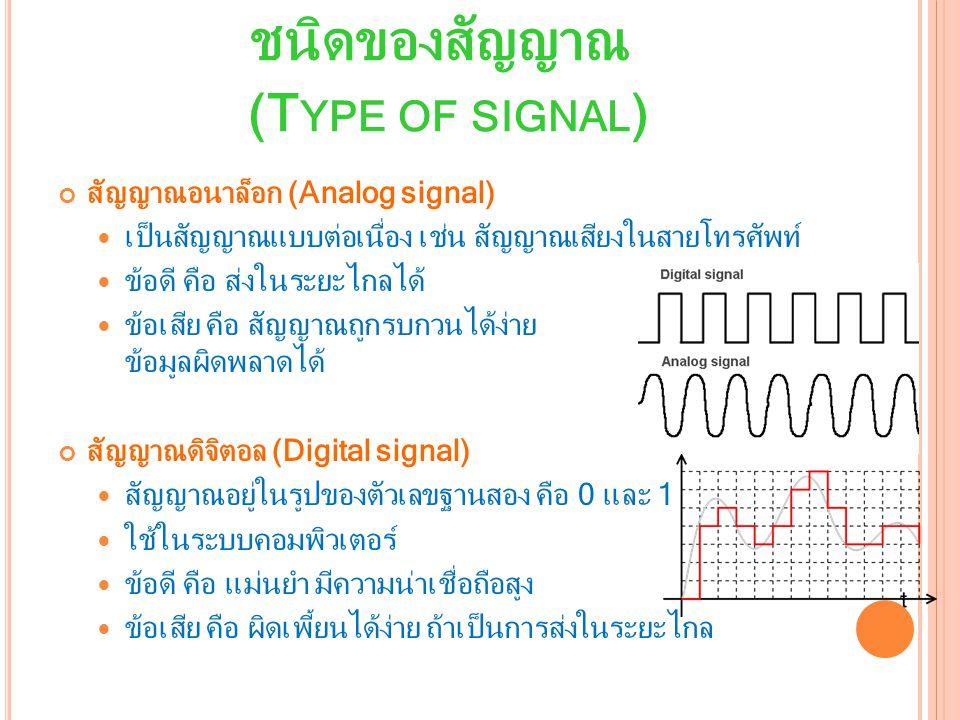ชนิดของสัญญาณ (Type of signal)