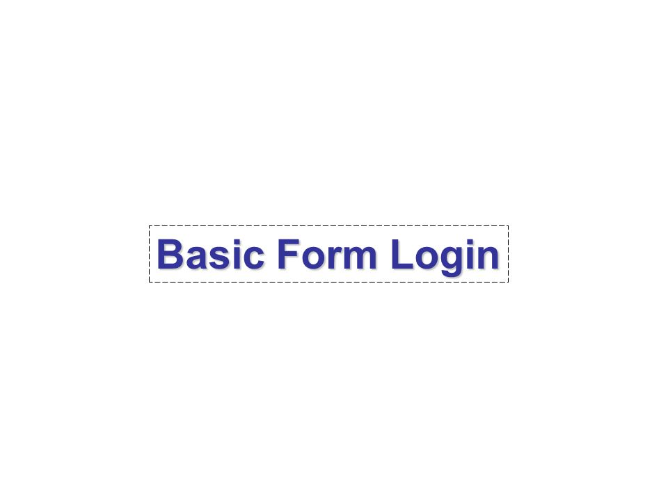 Basic Form Login