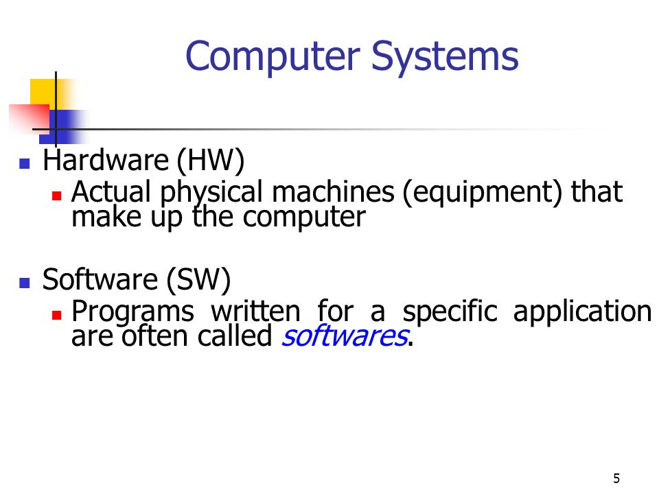 Computer Systems Hardware (HW)