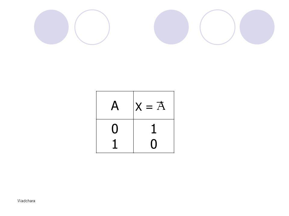 A 1 X = Wadchara