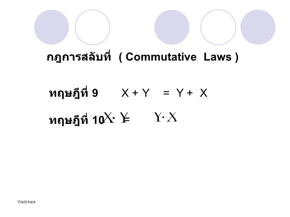 กฎการสลับที่ ( Commutative Laws )