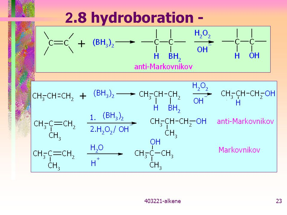 2.8 hydroboration - oxidation