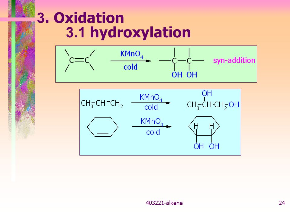 3. Oxidation 3.1 hydroxylation 403221-alkene