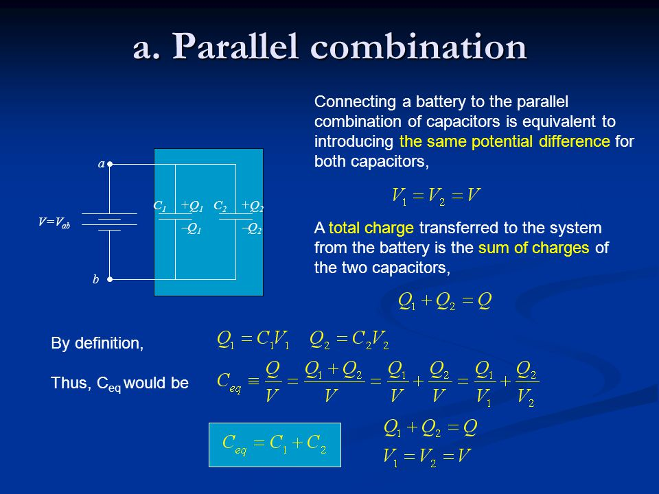 a. Parallel combination
