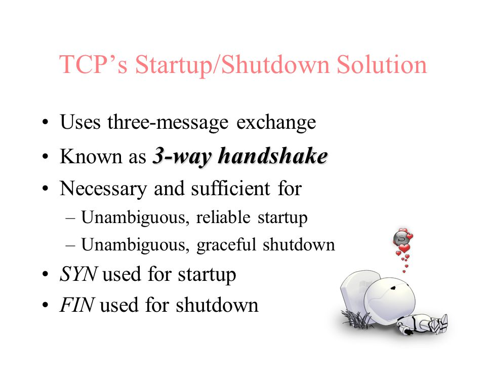 TCP's Startup/Shutdown Solution