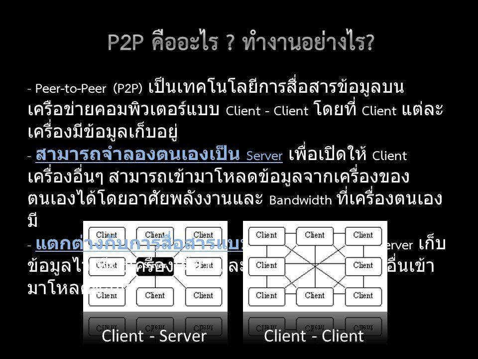 P2P คืออะไร ทำงานอย่างไร