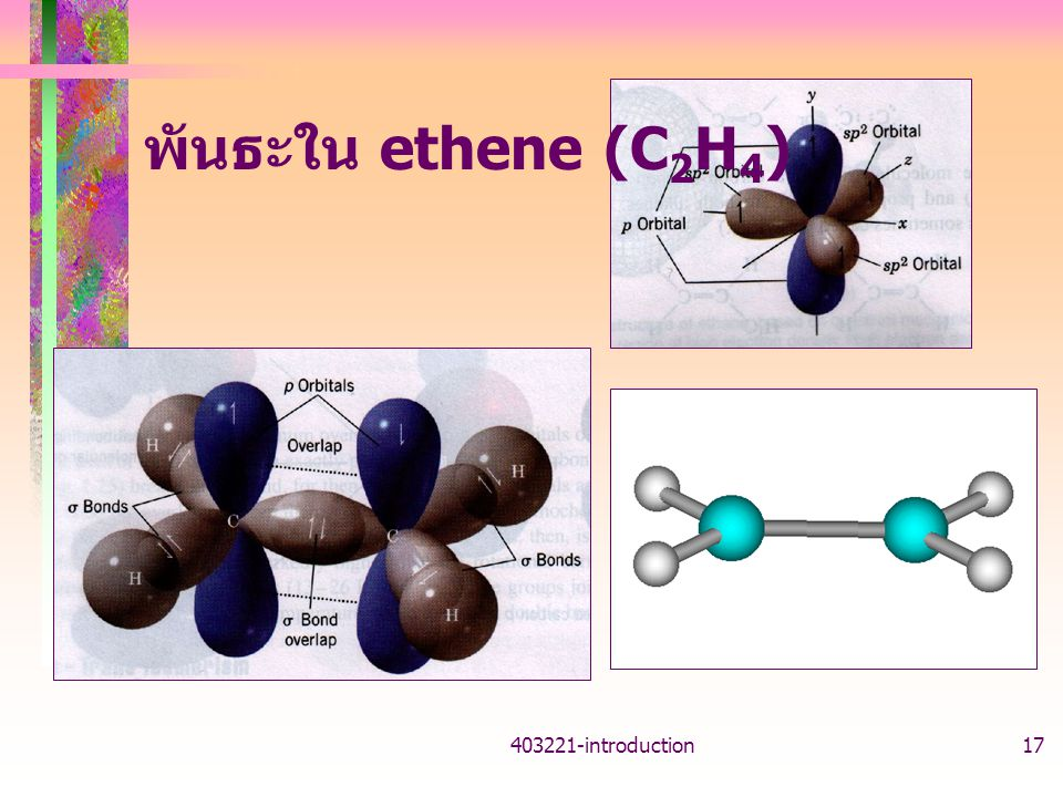 พันธะใน ethene (C2H4) introduction