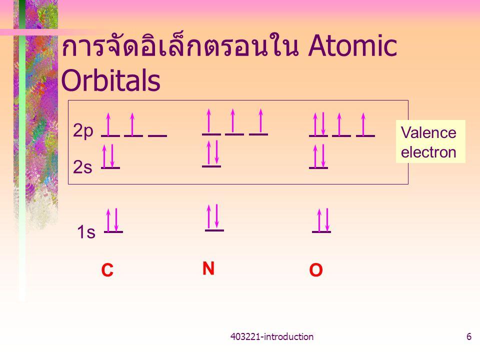 การจัดอิเล็กตรอนใน Atomic Orbitals