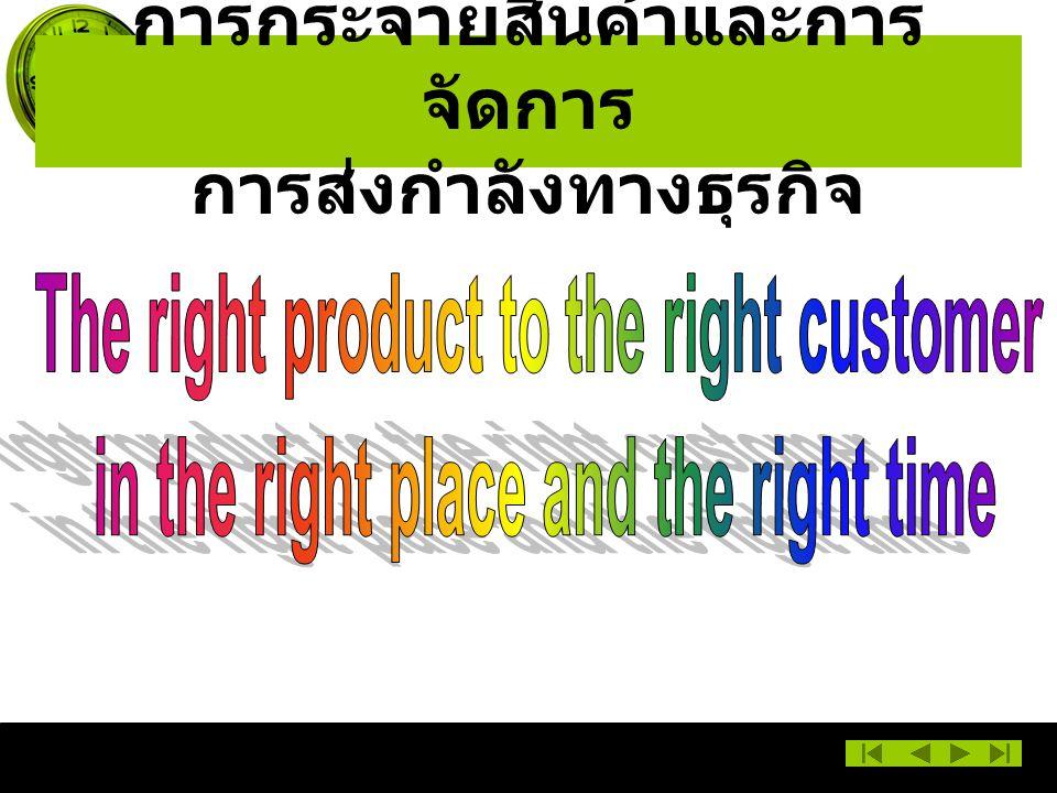 การกระจายสินค้าและการจัดการ การส่งกำลังทางธุรกิจ