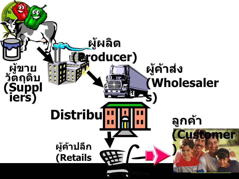ผู้ขายวัตถุดิบ (Suppliers)
