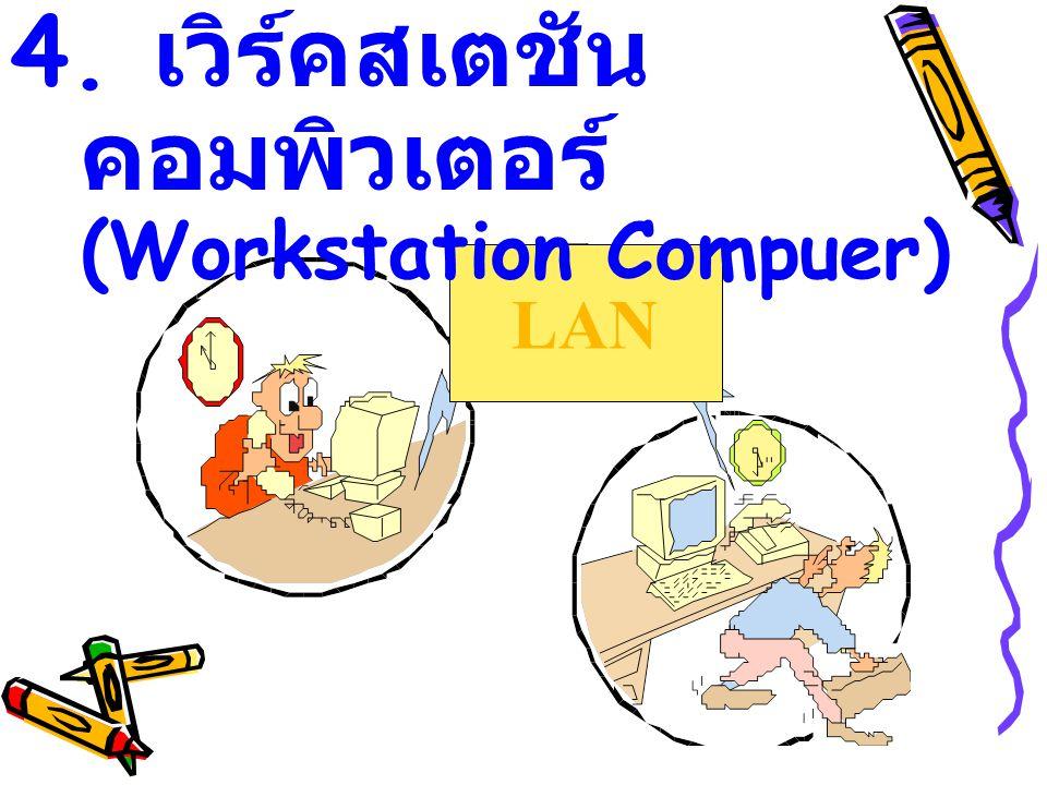 4. เวิร์คสเตชันคอมพิวเตอร์ (Workstation Compuer)