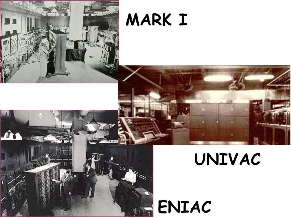 MARK I UNIVAC ENIAC ENIAC
