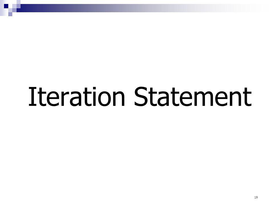 Iteration Statement