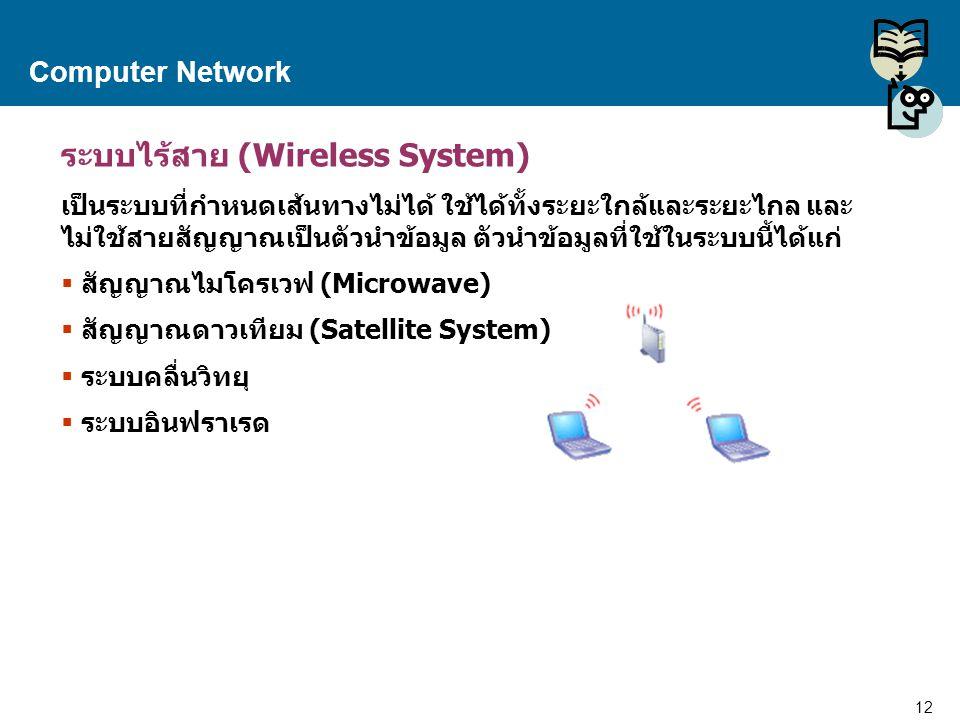 ระบบไร้สาย (Wireless System)