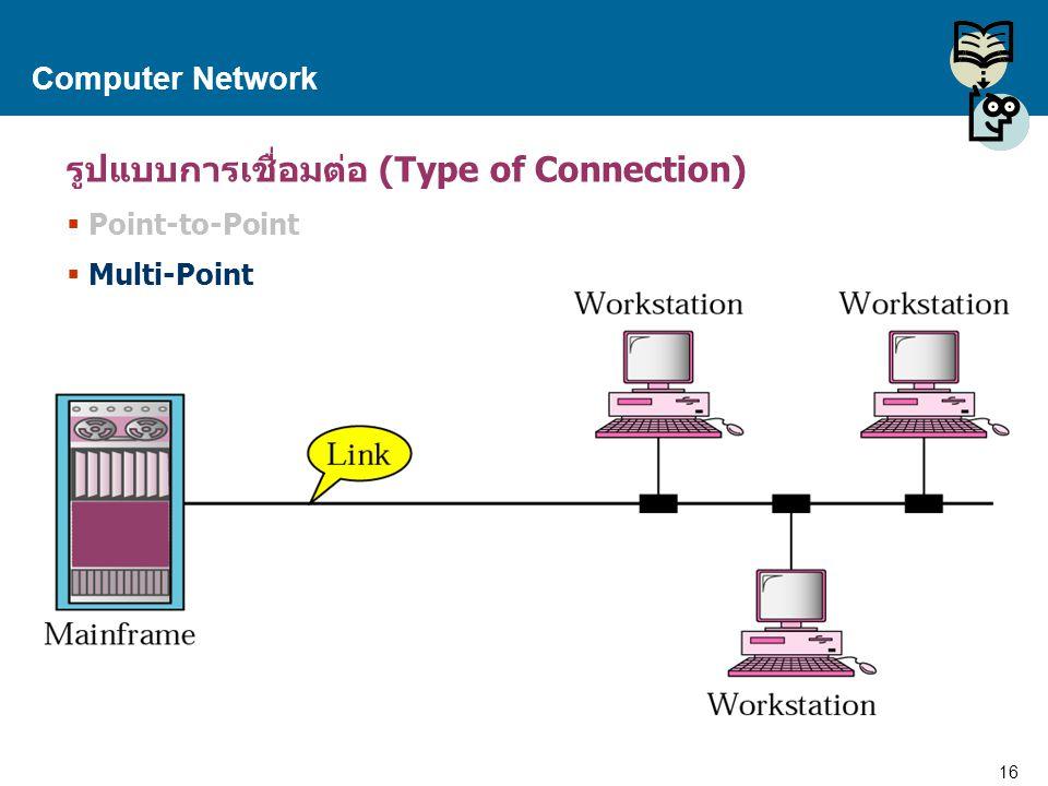 รูปแบบการเชื่อมต่อ (Type of Connection)