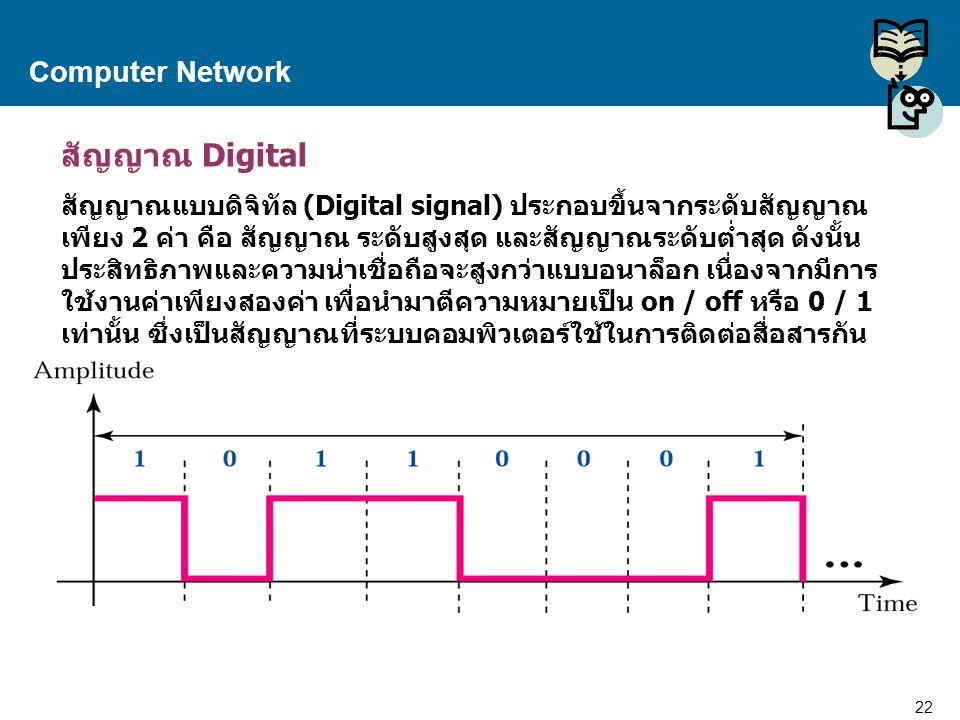 สัญญาณ Digital Computer Network