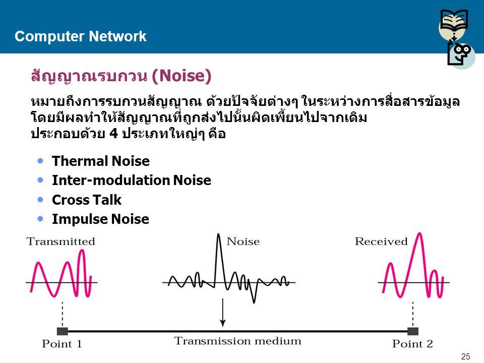 สัญญาณรบกวน (Noise) Computer Network