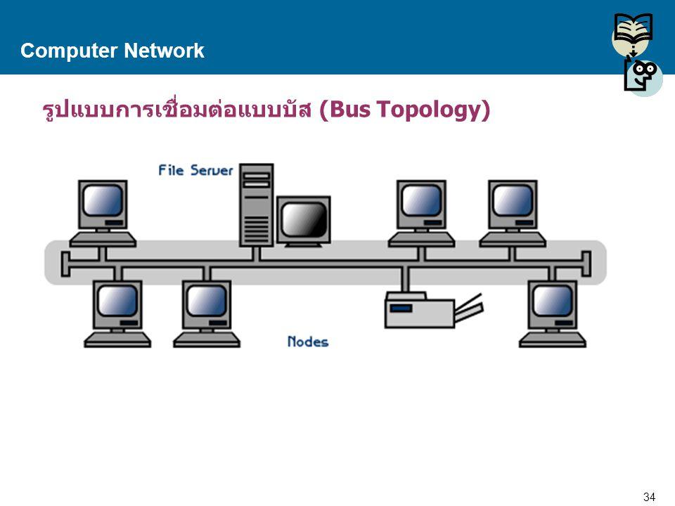 รูปแบบการเชื่อมต่อแบบบัส (Bus Topology)