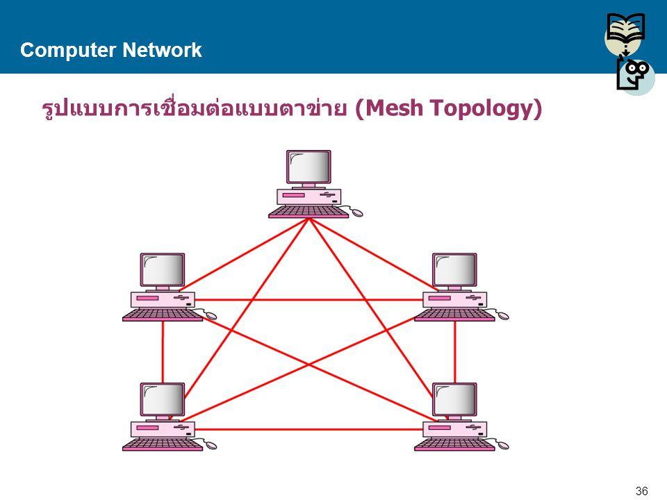 รูปแบบการเชื่อมต่อแบบตาข่าย (Mesh Topology)