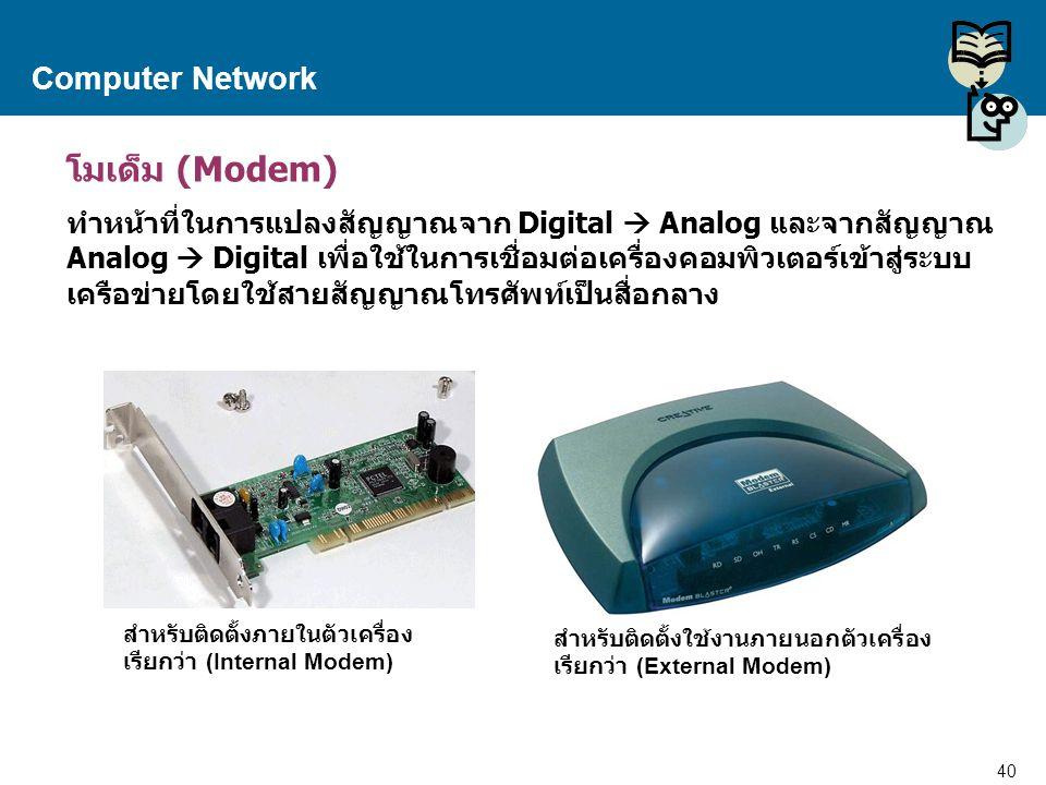 โมเด็ม (Modem) Computer Network