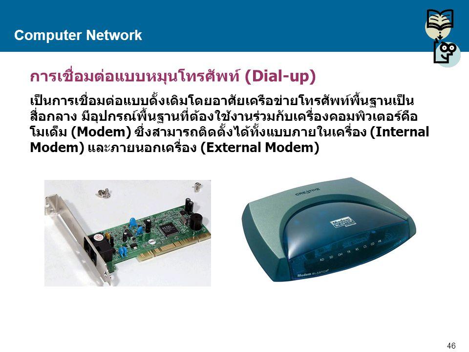 การเชื่อมต่อแบบหมุนโทรศัพท์ (Dial-up)