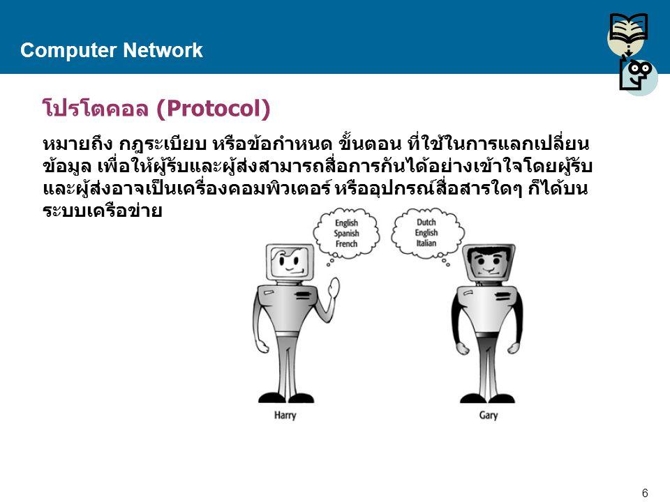 โปรโตคอล (Protocol) Computer Network