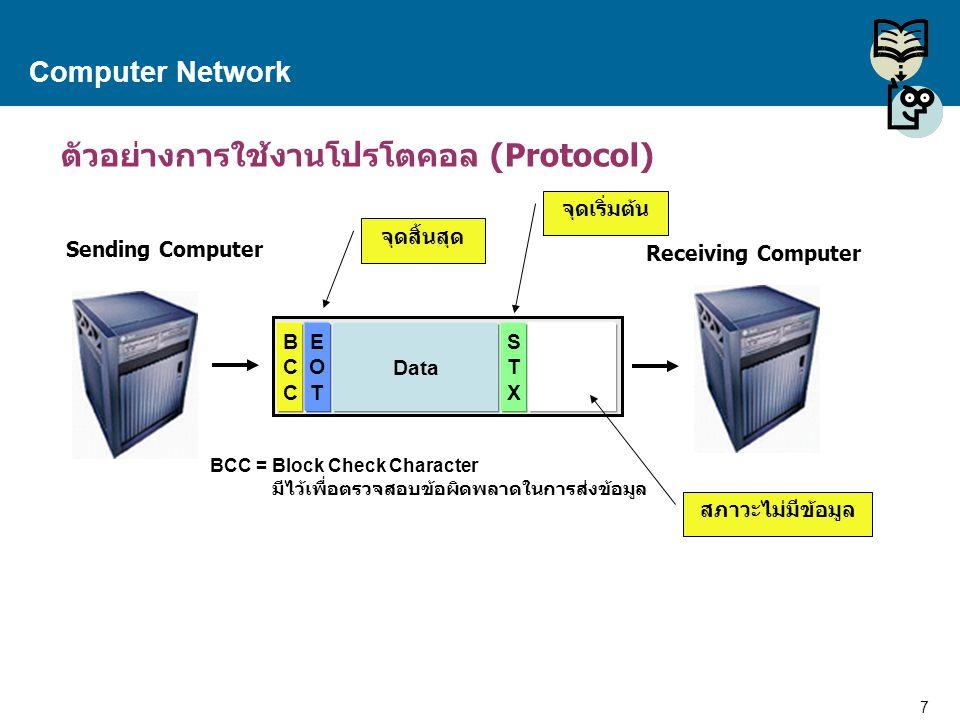 ตัวอย่างการใช้งานโปรโตคอล (Protocol)