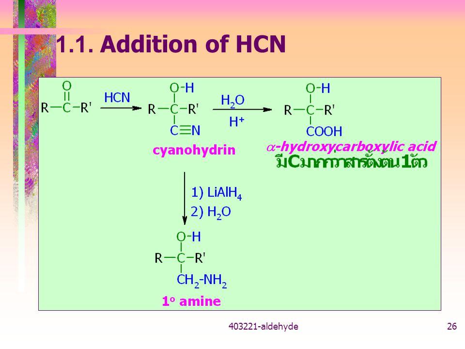 1.1. Addition of HCN 403221-aldehyde