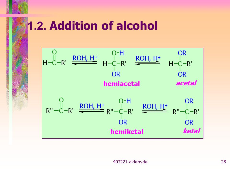 1.2. Addition of alcohol 403221-aldehyde