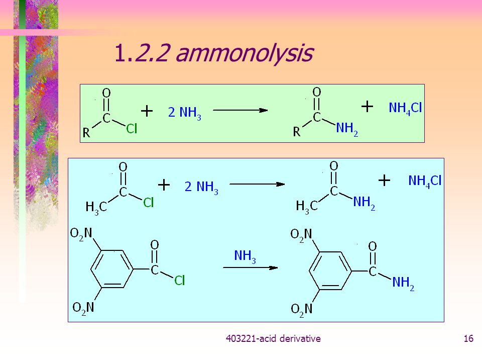 1.2.2 ammonolysis acid derivative