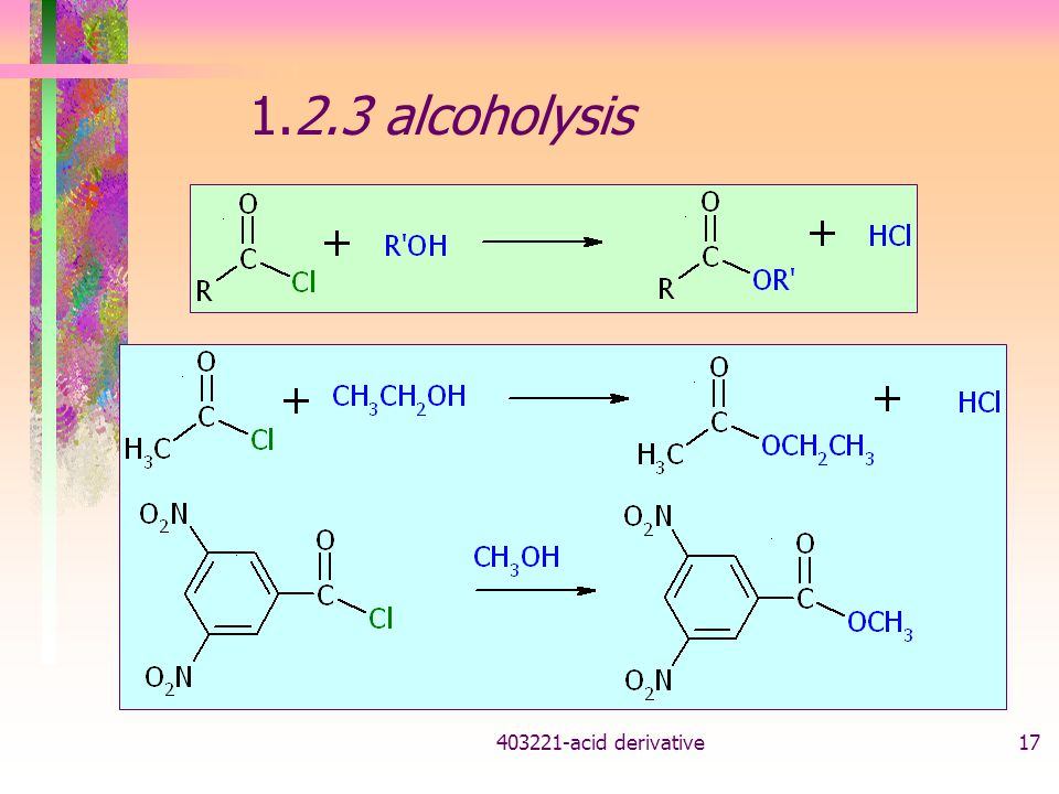 1.2.3 alcoholysis acid derivative