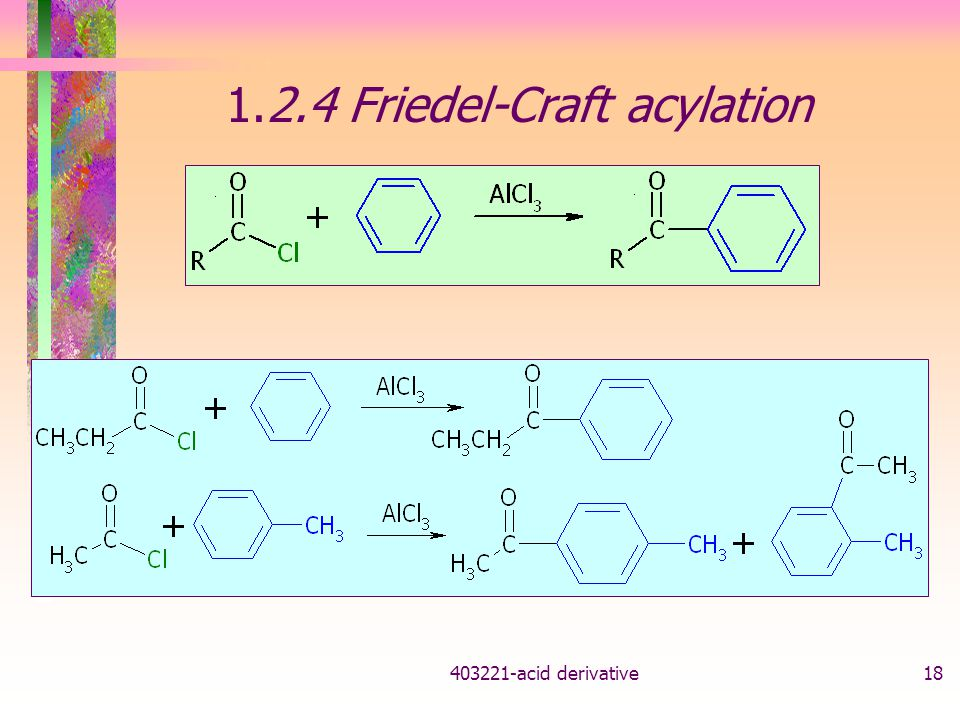1.2.4 Friedel-Craft acylation