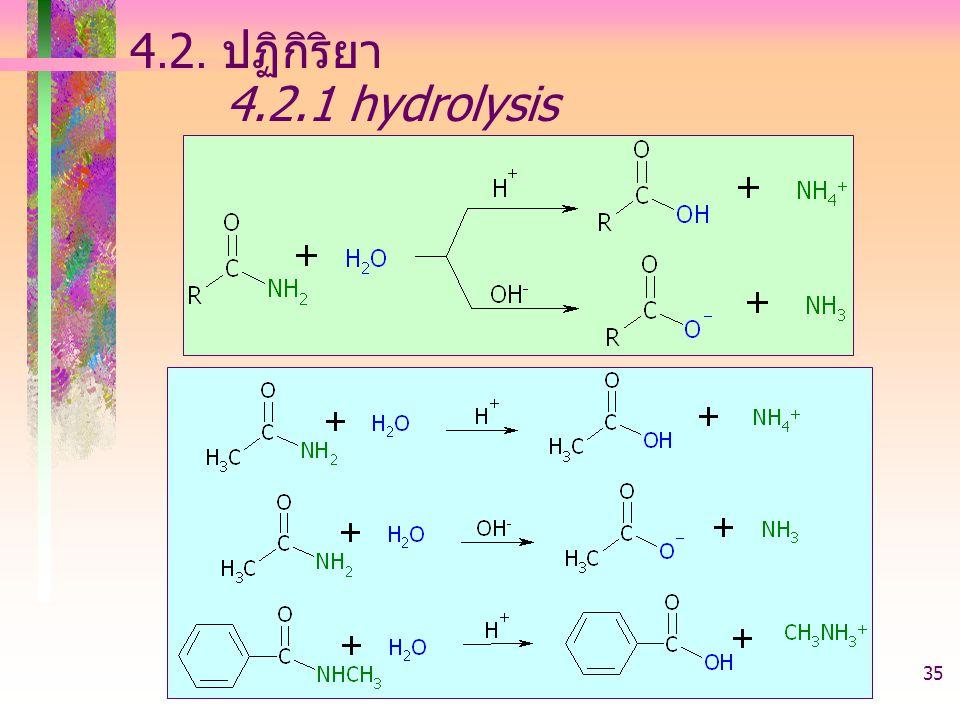 4.2. ปฏิกิริยา 4.2.1 hydrolysis 403221-acid derivative