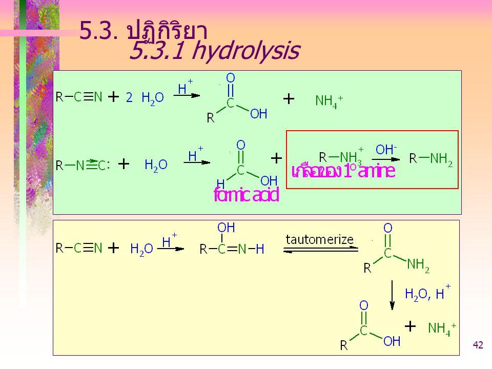 5.3. ปฏิกิริยา 5.3.1 hydrolysis 403221-acid derivative
