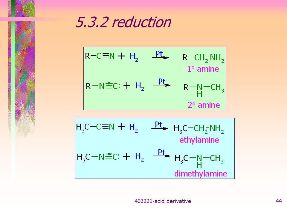 5.3.2 reduction acid derivative
