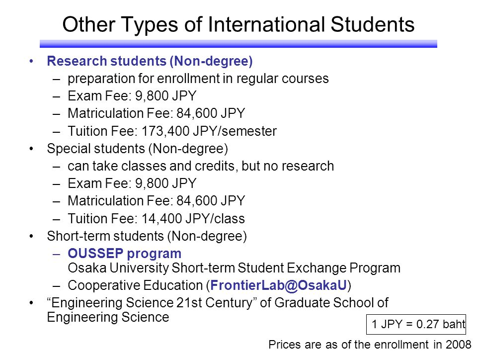 Other Types of International Students