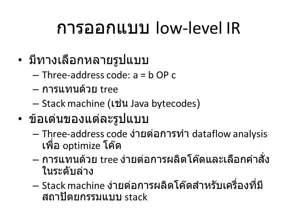 การออกแบบ low-level IR