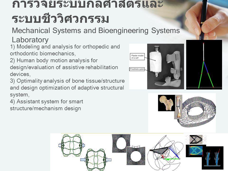 การวิจัยระบบกลศาสตร์และระบบชีววิศวกรรม Mechanical Systems and Bioengineering Systems Laboratory