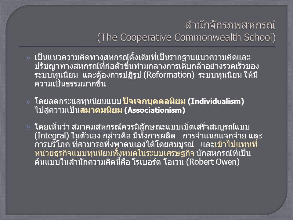 สำนักจักรภพสหกรณ์ (The Cooperative Commonwealth School)