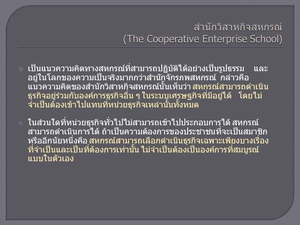 สำนักวิสาหกิจสหกรณ์ (The Cooperative Enterprise School)