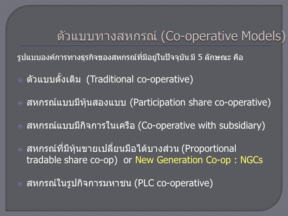 ตัวแบบทางสหกรณ์ (Co-operative Models)