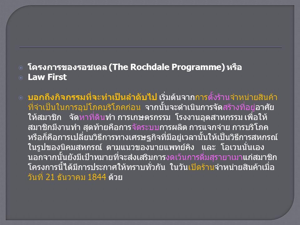 โครงการของรอชเดล (The Rochdale Programme) หรือ