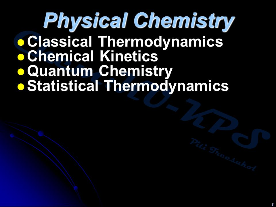 Physical Chemistry Classical Thermodynamics Chemical Kinetics